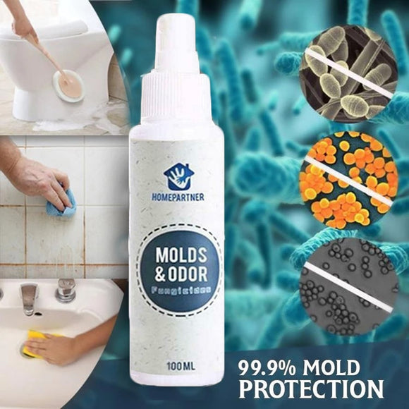 Mold Out and Stains Remover Spray Multi-Purpose Cleaner Quick removal 100ml.