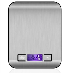 Stainless Steel Kitchen Scale Electronic Weighing 5Kg 10Kg Slim LCD Digital