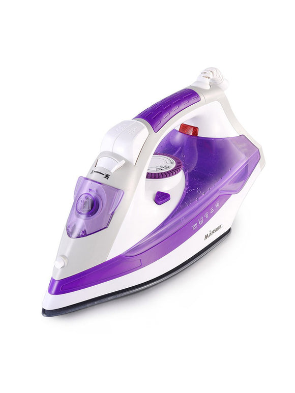 Electric Steam Iron Ceramic Baseplate Portable Handheld Clothes