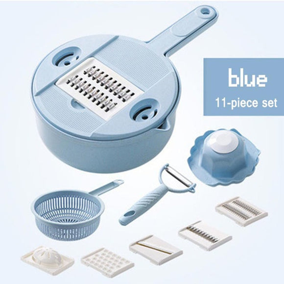 11 IN 1 Multi-function Easy Food Chopper Grater Manually