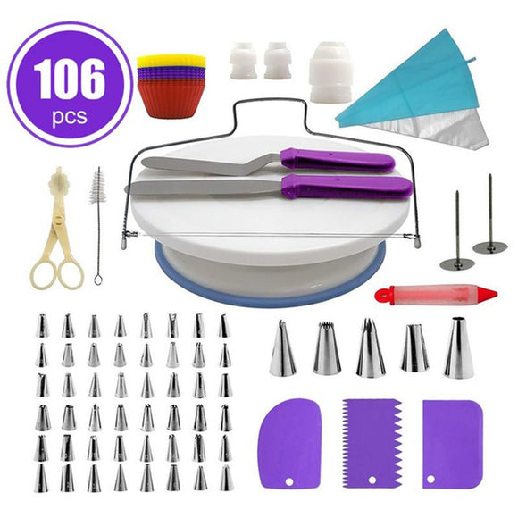 106pcs Cake Decorating Supplies Cake