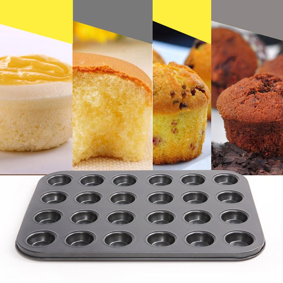 Creative 24-hole Carbon Steel Baking Muffin