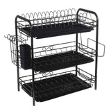 Dish Rack Set 2/3 Tier Kitchen Organizer Frame Steel Drain Dish Shelf