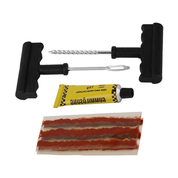 1 Set Auto Car Tubeless Tire Repair Kit and Rubber Cement