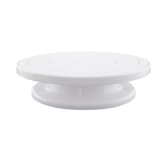 Plastic Cake Plate Turntable Rotating Anti-skid Round