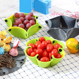 Fruit Dish Nut Snacks dishes and Candy plates sets Silicone Reusable