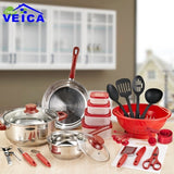 35pcs set Utensil Heat Resistant Stainless Steel Pots and Pans