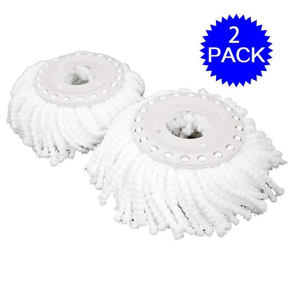 Lot Of 2 Replacement Mop Micro Head Refill For 360 Degree Spinning Floor Mop