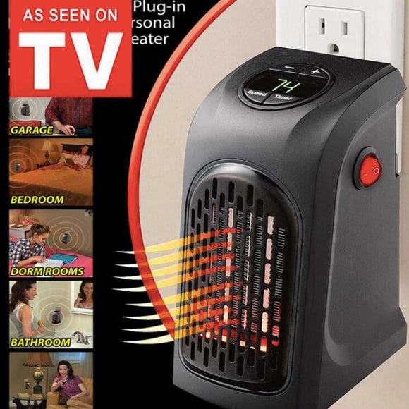 Electric Mini Portable Heater Any Place Indoor Adjustable Thermostat