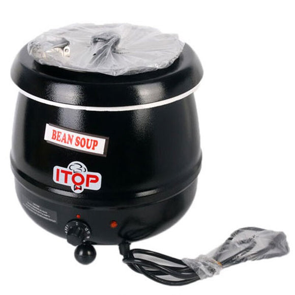 10L Pot Soup Warmer Kettle 110V/US, 220V/EU plugs Wet Heat Boiler Adjustable Temperature