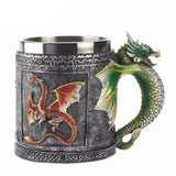 3D Double Wall Stainless Steel Dragon Travel Coffee Mug