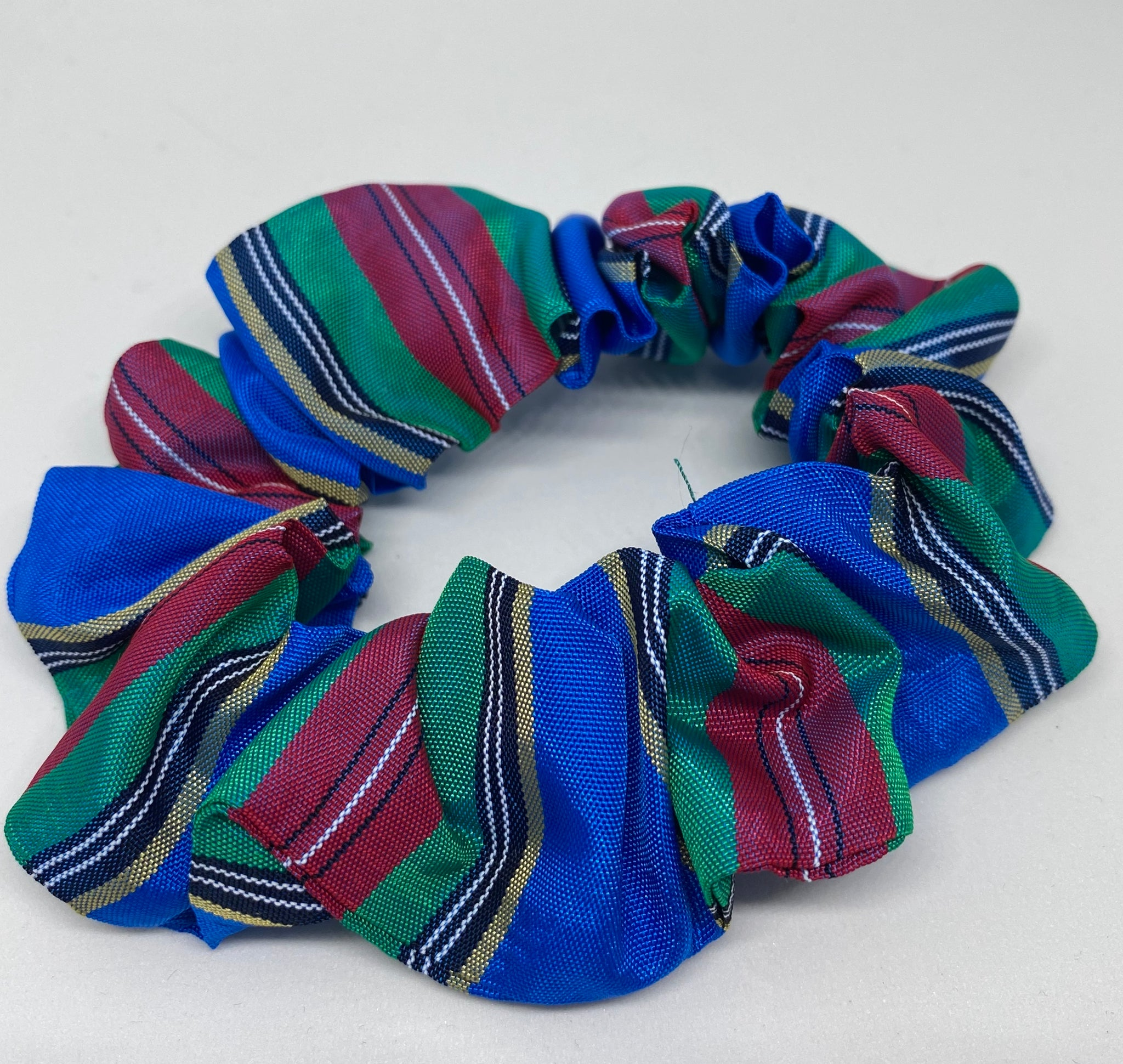 Checkered Satin Scrunchie