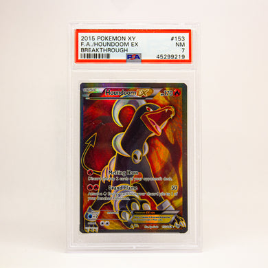 2015 POKEMON XY FULL ART HOUNDOOM EX - POP KULCHA COLLECT - Graded cards, sealed products, toys and video games