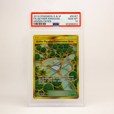 2019 POKEMON S&M FULL ART AETHER PARADISE - POP KULCHA COLLECT - Graded cards, sealed products, toys and video games