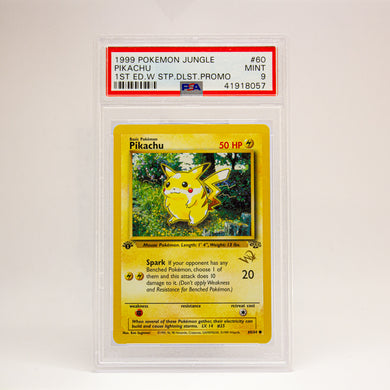 1999 POKEMON JUNGLE PIKACHU 1ST ED W - POP KULCHA COLLECT - Graded cards, sealed products, toys and video games
