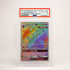 2018 POKEMON S&M FULL ART NAGANDEL GX - POP KULCHA COLLECT - Graded cards, sealed products, toys and video games