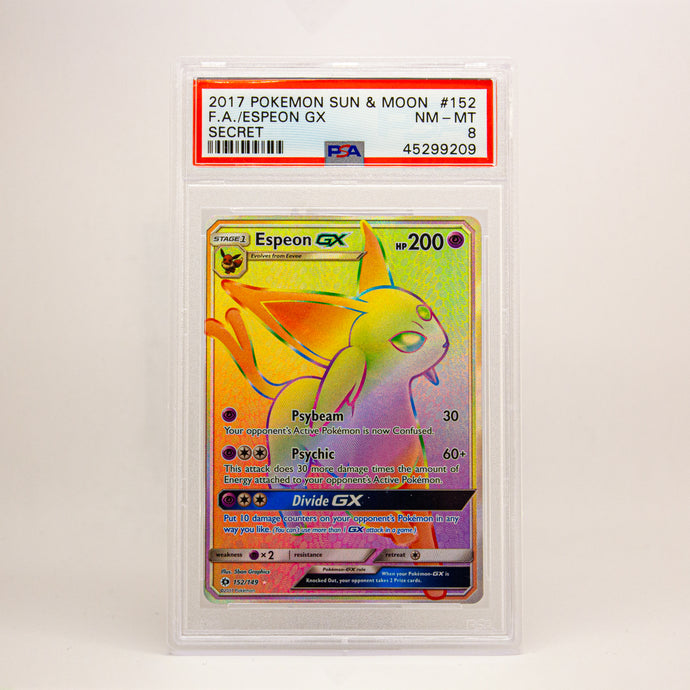2017 POKEMON S&M FULL ART ESPEON GX - POP KULCHA COLLECT - Graded cards, sealed products, toys and video games