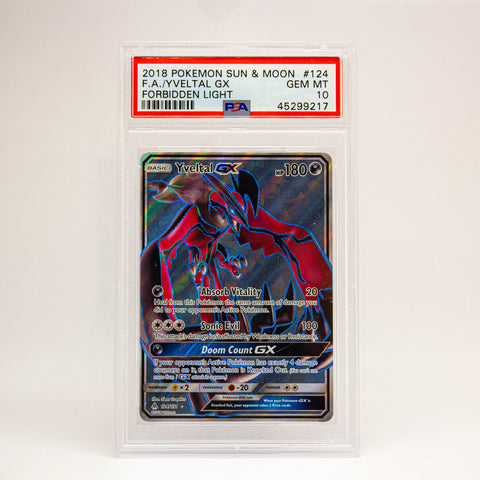 2018 POKEMON S&M FULL ART YVELTAL GX - POP KULCHA COLLECT - Graded cards, sealed products, toys and video games