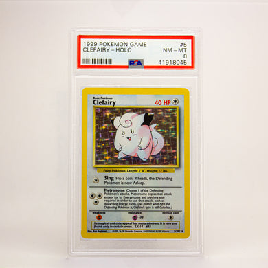 1999 POKEMON GAME CLEFAIRY - POP KULCHA COLLECT - Graded cards, sealed products, toys and video games