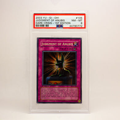 2003 YUGIOH! JUDGE. OF ANUBUS 1ST ED - POP KULCHA COLLECT - Graded cards, sealed products, toys and video games