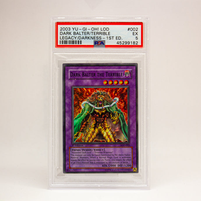 2003 YUGIOH! LOD DARK BALTER. 1ST ED - POP KULCHA COLLECT - Graded cards, sealed products, toys and video games