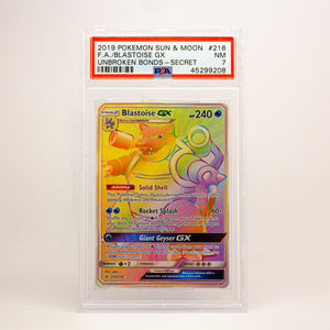 2019 POKEMON S&M FULL ART BLASTOISE GX - POP KULCHA COLLECT - Graded cards, sealed products, toys and video games