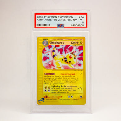2002 POKEMON EXPEDITION AMPHAROS - POP KULCHA COLLECT - Graded cards, sealed products, toys and video games