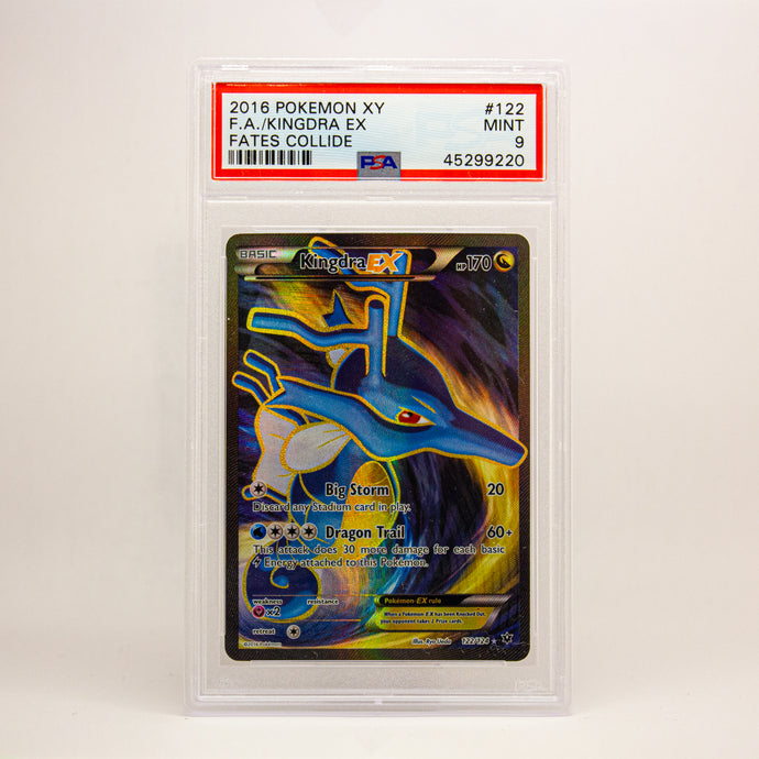 2016 POKEMON XY FULL ART KINGDRA EX - POP KULCHA COLLECT - Graded cards, sealed products, toys and video games