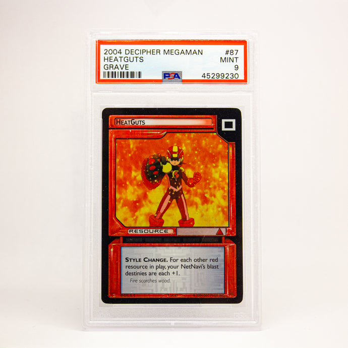 2004 DECIPHER MEGAMAN GRAVE HEATGUTS - POP KULCHA COLLECT - Graded cards, sealed products, toys and video games