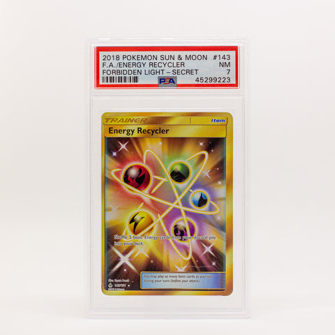 2018 POKEMON S&M FULL ART ENERGY RECYCLER SECRET - POP KULCHA COLLECT - Graded cards, sealed products, toys and video games