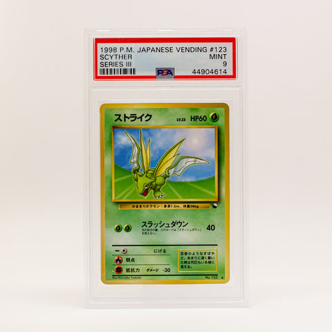 1998 POKEMON JAP. VENDING SCYTHER - POP KULCHA COLLECT - Graded cards, sealed products, toys and video games