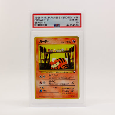 1998 POKEMON JAP. VENDING GROWLITHE - POP KULCHA COLLECT - Graded cards, sealed products, toys and video games