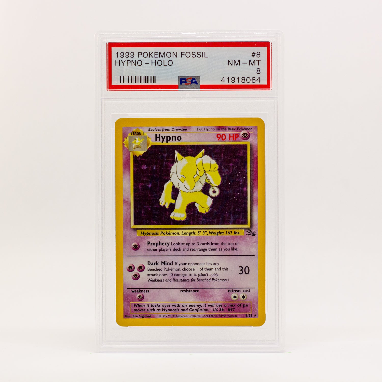 1999 POKEMON FOSSIL HYPNO HOLO - POP KULCHA COLLECT - Graded cards, sealed products, toys and video games