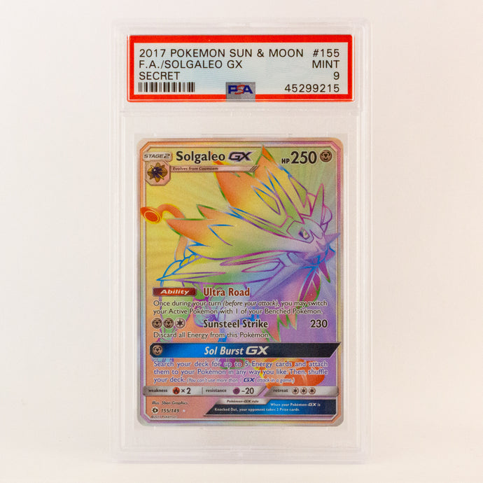2017 POKEMON S&M FULL ART SOLGALEO GX SECRET - POP KULCHA COLLECT - Graded cards, sealed products, toys and video games
