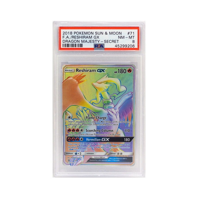 2018 POKEMON S&M FULL ART RESHIRAM GX - POP KULCHA COLLECT - Graded cards, sealed products, toys and video games