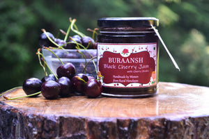Handmade Black Cherry Jam with Cherry Chunks