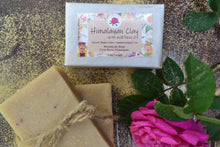 Load image into Gallery viewer, Handmade Himalayan Clay & Rose Oil Soap