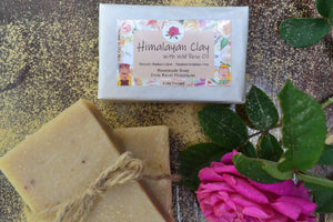 Handmade Himalayan Clay & Rose Oil Soap