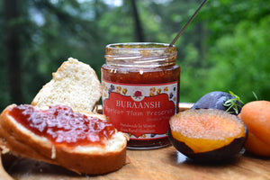 Apricot Plum preserve spread on bread