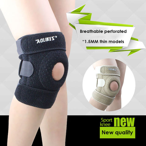 LUG 1PCS Adjustable Sports Training Elastic Knee Support Brace Kneepad