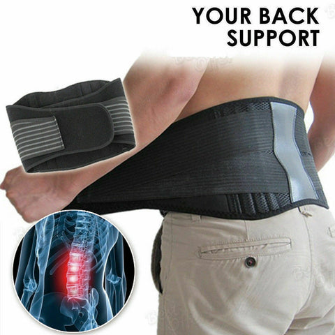 LUG Adjustable Waist Tourmaline Self heating Magnetic Waist Support Belt