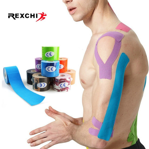LUG 2 Size Elastic Kinesiology Tape Athletic Recovery Sports Safety Muscle Pain Relief Knee Pads