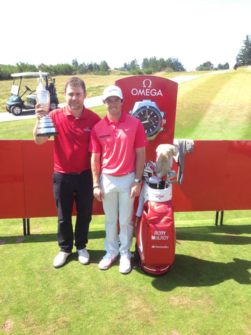 Dan Davies with Open Champion Rory McIlroy