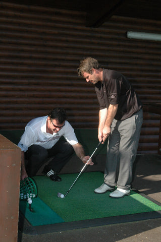 The notoriously self-absorbed Faldo became ever more animated as he tried to impart the simple mechanics of chipping