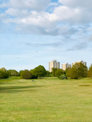 Richmond Park golf course, with Roehampton in the background