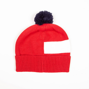 McKellar Bobble Hat Red