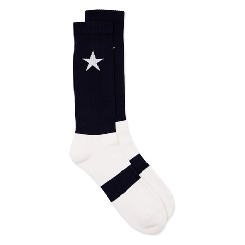 No Rule Socks Navy & White