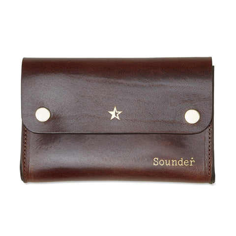 Tidy Leather Pouch - Dark Tan