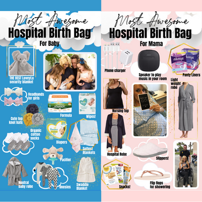 The Most Awesome Hospital Birthing Bag