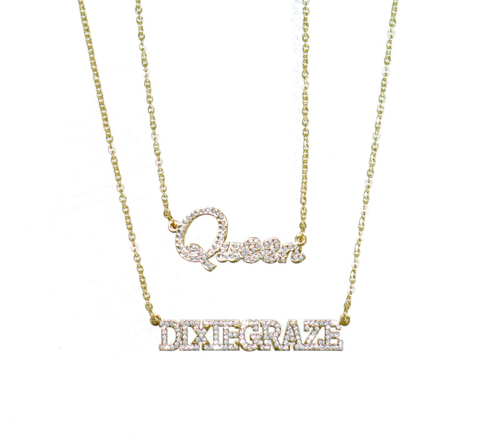 CZ Customized name necklace